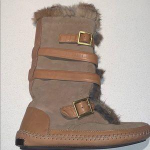 Tory Burch Fur Boots
